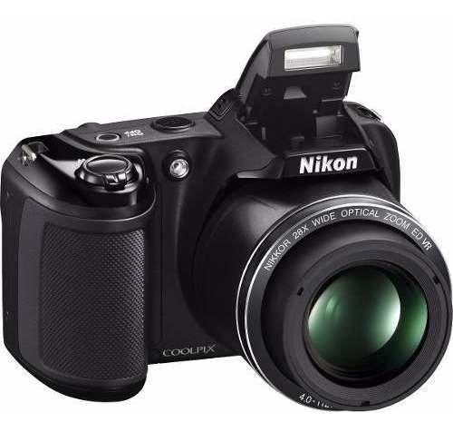Câmera Nikon Dslr Coolpix L340 20mp 28x Preto