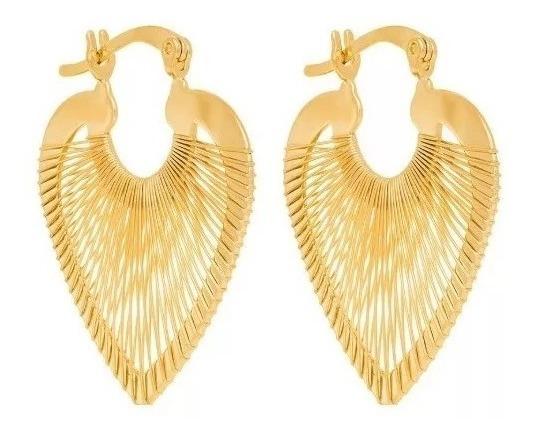 Brinco Rommanel Folheado Ouro 18k Coração Delicado 523025