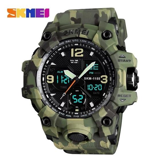 Relógio Masculino Militar Skmei 1155b Analógico/digital