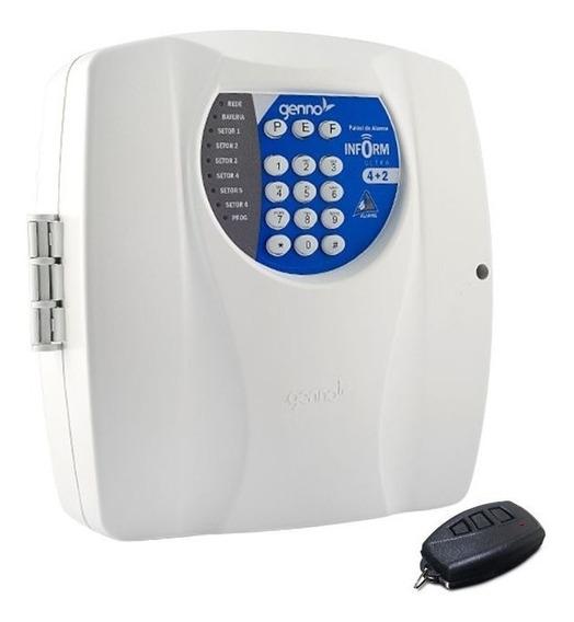 Central Alarme Genno Inform Ultra 4+2 Setores Com Controle