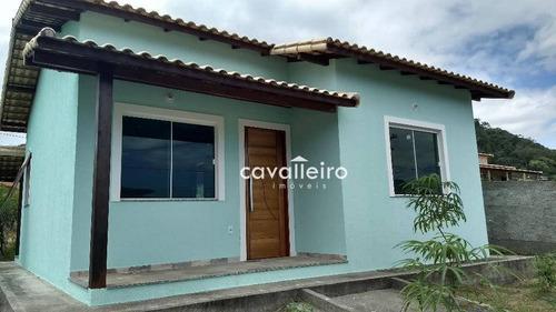 Casa Com 2 Dormitórios À Venda, 66 M² Por R$ 215.000,00 - Caxito - Maricá/rj - Ca2766