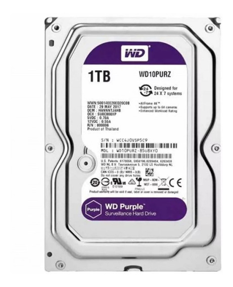 Disco Rigido Hd 1tb Purple Wd Video Vigilancia Sata3 Bsa Comers