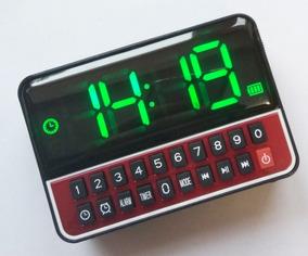 Rádio Fm Relógio Digital Usb Sd Mp3 20w Potência