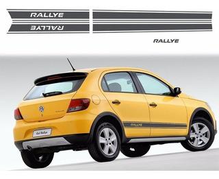 Kit Faixas Adesivos Gol Rallye 2011 G5 Mod Original Grafite