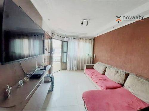 Apartamento Com 3 Dormitórios À Venda, 72 M² Por R$ 402.000 - Vila Cecília Maria - Santo André/sp - Ap3599