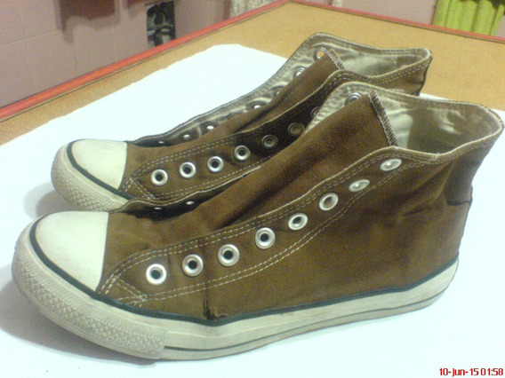 Converse-all Stars Botitas Lona En Color Chocolate Medio