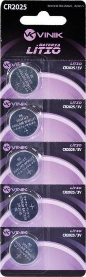 Bateria Cr2025 Blister 5un 2025 Bl2025-5 Vinik Nfe
