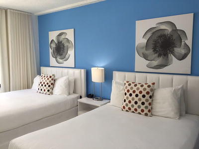 Lindo Depto Sobre Playa Miami Beach+pool+parking Gratis