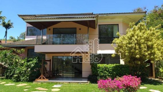 Casa Com 4 Dormitórios À Venda, 400 M² Por R$ 1.650.000,00 - Pendotiba - Niterói/rj - Ca1116