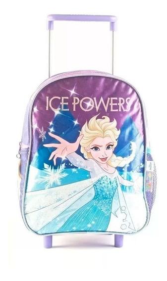 Mochila Frozen 12 Pulgadas Con Carro 88301 Wabro Original!!