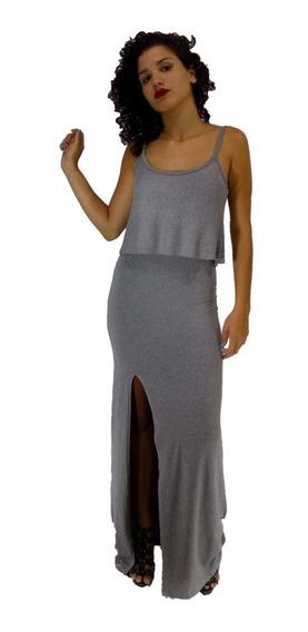 4 Vestidos Feminino Longo Alças Reguláveis Lindo Babado