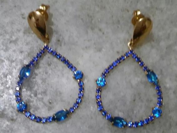 Brincos Feminino Pedra Swarovsk Azul Safira Verdes Esmeralda