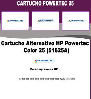 Cartucho Alternativo Color Powertec 51625a - 25