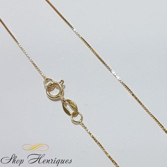 Corrente Em Ouro Amarelo 18k Veneziana 45cm - Co020718