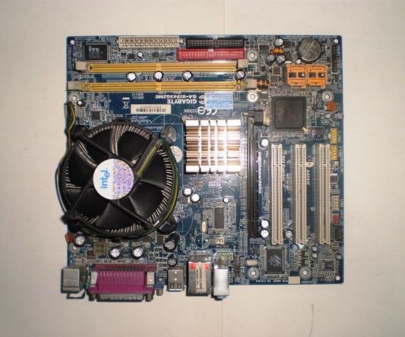 Placa Mãe Ga-8i945gzme + Espelho + Processador + Cooler