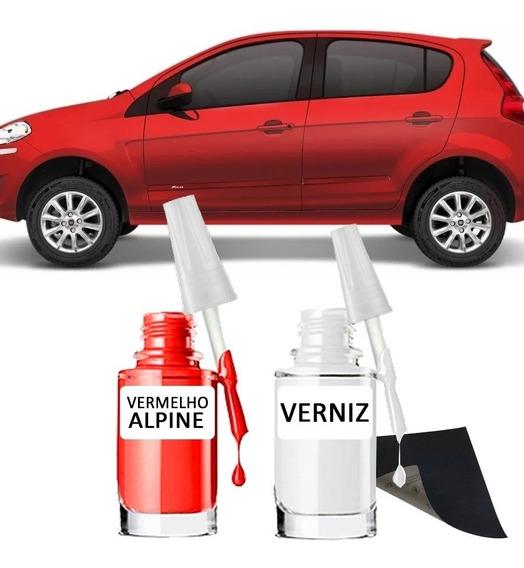 Tinta Tira Risco Automotiva Fiat Vermelho Alpine 15ml