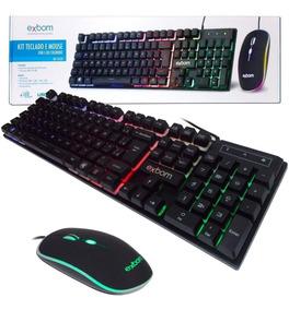 Kit Gamer Teclado Semi Mecanico Mouse Bk-g550 Abnt2 Usb K5