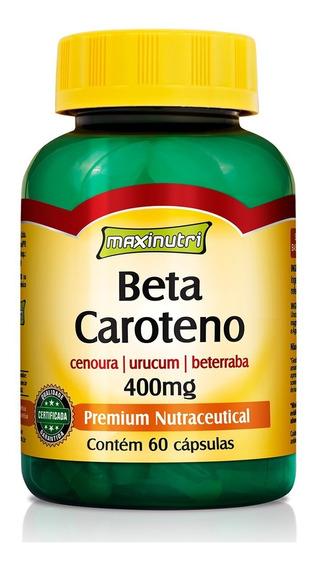 Beta Caroteno 400 Mg - 60 Cápsulas - Maxinutri