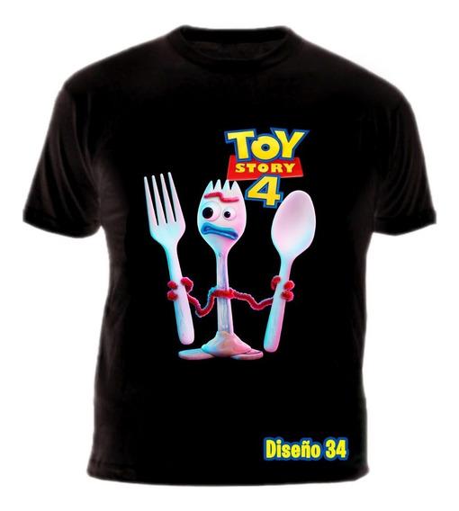 Remeras Toy Story 4 Negras Y Blancas 100% Algodón!!