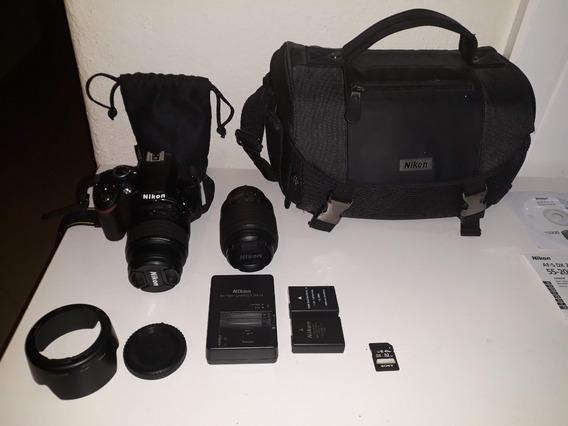 Câmera Nikon D3200 - Perfeito Estado - Poucos Cliques