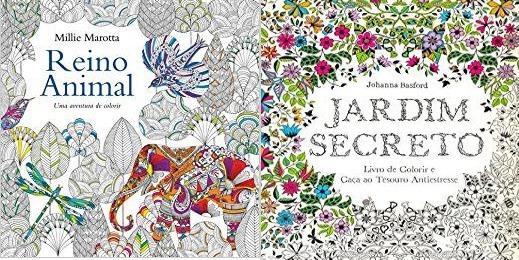 Jardim Secreto + Reino Animal Livro De Colorir