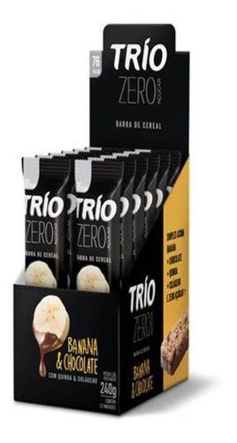 Trio Barra Cereal Zero Banana Chocolate C/12
