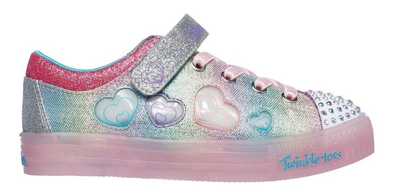 Zapatillas Niña Skechers Luces Twinkle Lite Heart Dancer