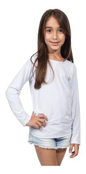 Camiseta Extreme Uv Repelente Infantil Feminina Manga Longa