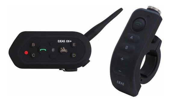 Intercomunicador De Capacete E6 Plus Com Controle De Guidão