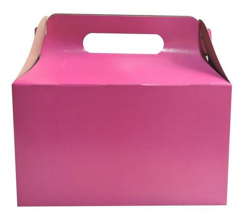 Imagen 1 de 10 de Cajita Feliz 2 De Colores X 10u Packaging Souvenir Cfz2