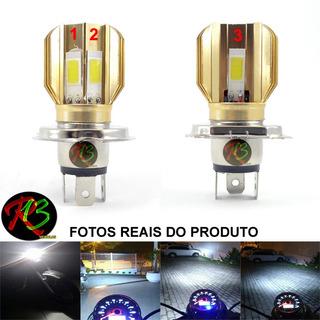 Lampada Farol Led H4 Moto E Carro Super Alcance Efeito Xenon