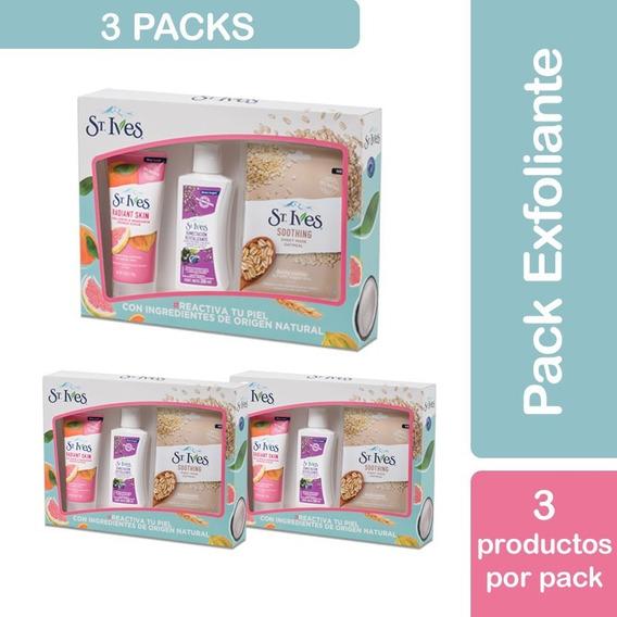 Pack St Ives Cuidado Facial Crema+ Exfoliante + Mascara