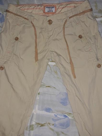 Pantalon Juvenil Talla 8 Color Crema