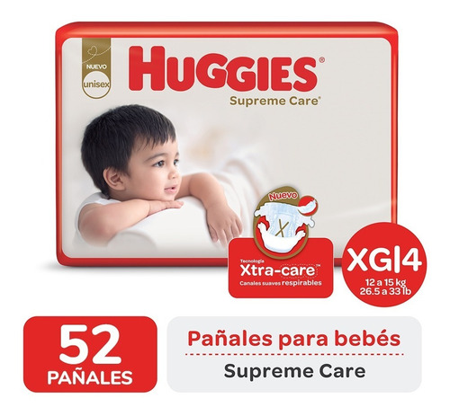 Pañales Huggies Supreme Care Ahorrapack M G Xg Xxg