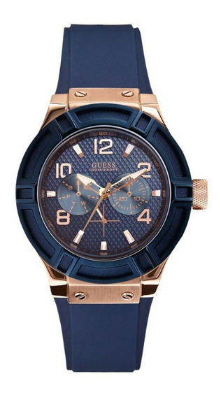 Relógio Guess Feminino Azul/rose 92506lpgsru4 W0571l1