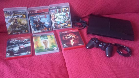 Playstation 3 Com 6 Jogos