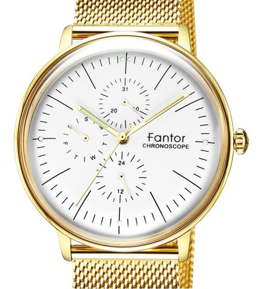 Reloj Fantor Chronoscope 11mm Extra Plano / Estrénalo Hoy!!