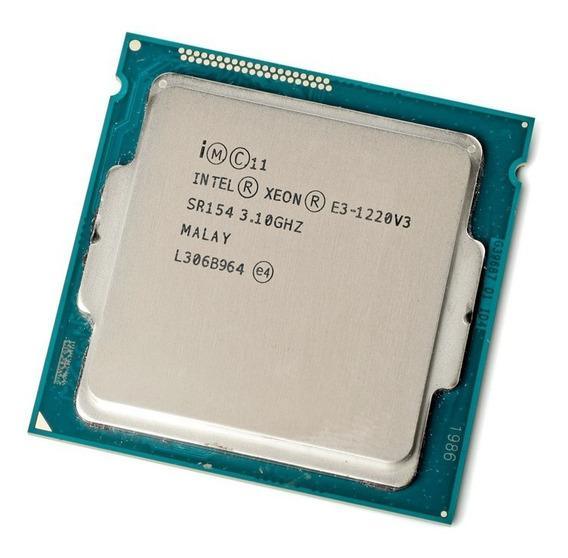 Processador Intel Xeon Lga 1150 E3-1220 V3 8mb 3.1 -3.5ghz