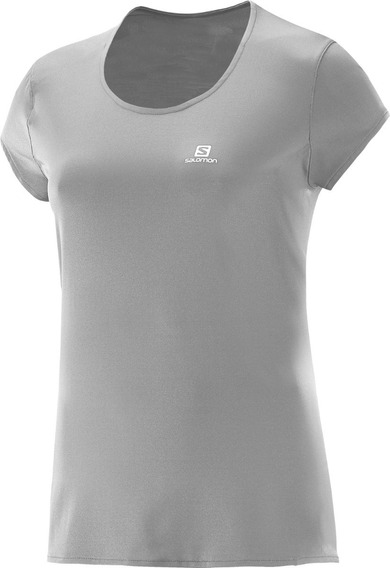 Camiseta Salomon Sonic Ss Uv Feminina 100% Poliamida
