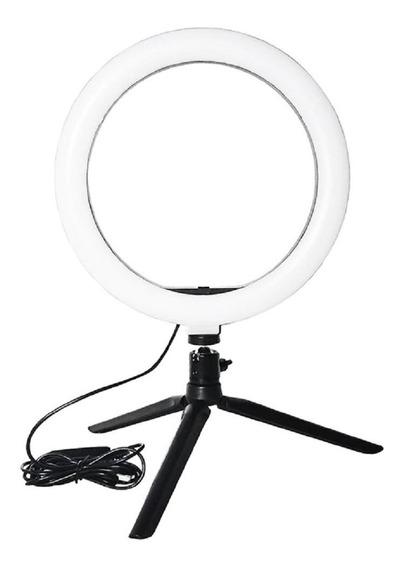 Ring Light + Tripe Iluminador Porttail 16cm Maquiagem Fotos