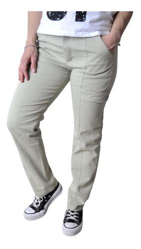 Imagen 1 de 5 de Pantalon Cargo Elastizado Mujer The Big Shop