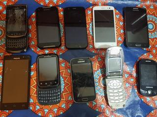 Lote De 10 Celulares A Reparar Motorola Sams Y Mas Permuto