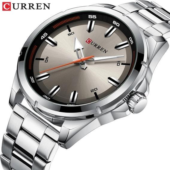 Relógio Curren Masculino Prata