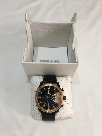 Reloj Diesel Negro Con Dorado, Impecable, No Arman, Hug, Kor
