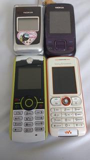 4 Celulares Nokia/ Motorola/ Ericson Usados - Leia Descrição