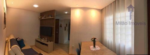 Imagem 1 de 10 de Apartamento Térreo Com 2 Dormitórios À Venda, 55 M² Por R$ 210.000 - Edifício Barão De Alfenas - Vila Trujillo - Sorocaba/sp - Ap1492