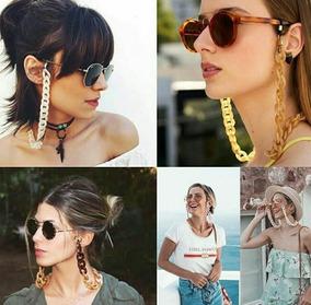 Corrente Para Óculos Cordão Grosso Modelo Instagram Pérola