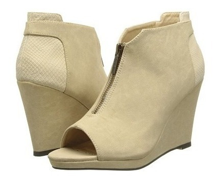 Zapato Plataforma Bocapez.. Gamuzada, Cierre Frontal.!!