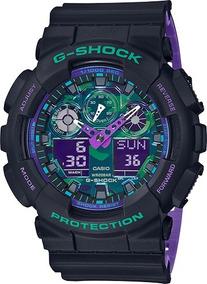 Relógio Masculino Casio G-shock Ga-100bl-1a Lançamento
