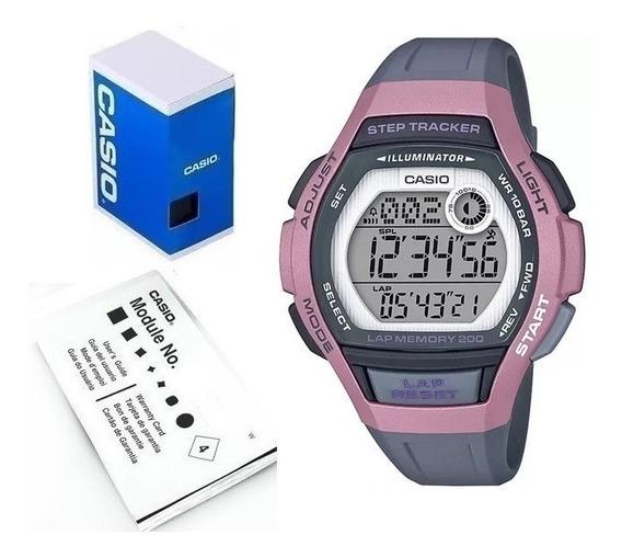 Reloj Casio Lws2000 Deportivo Memoria 200 Registros Vueltas